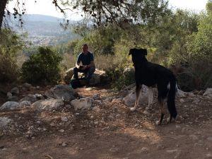 Toni in den bergen